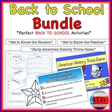 Back to School Middle and High School Activities