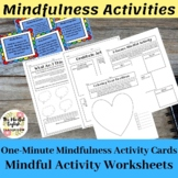 Back to School Mindfulness Activities. Cards, Worksheets,