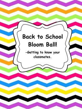 Back to School Mini Bloom Ball