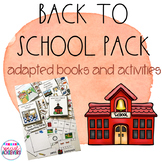 Back to School Adapted Books Bundle