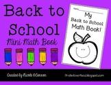 Back to School Mini Math Book (No Prep)