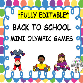 Back to School Mini Olympic Games  ***EDITABLE***