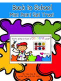 Back to School Mini Paint Set Treat
