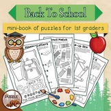 Back to School Mini Puzzle Book for First Graders