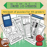 Back to School Mini Puzzle Book for Fourth Graders