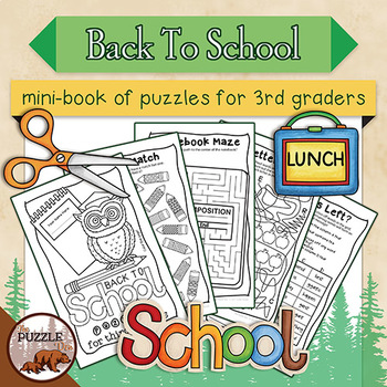 Back to School Puzzle Mini Book for Third Graders