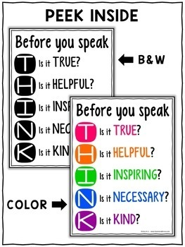 Class Decor - Thinking Poster
