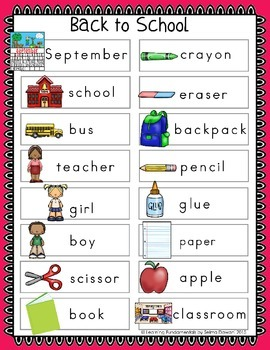 Back to School Mini Writing Center Add-On for September