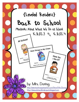 Back to School Minibooks {Leveled Readers}
