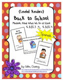 Back to School Minibooks SPANISH {Leveled Readers}