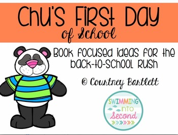 """Back to School Minilesson Pack for """"Chu's First Day of School"""""""