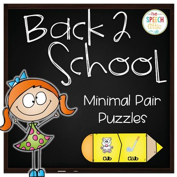 Back to School Minimal Pair Puzzles