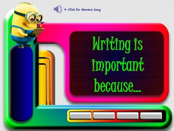 "Back to School Minions Themed ""Why is Writing Important?"" Lesson"