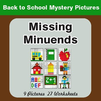Back to School: Missing Minuends - Color-By-Number Mystery Pictures
