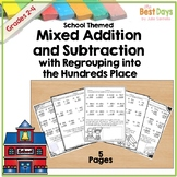 Mixed Regrouping Addition and Subtraction 2, 3, and 4 Digit Practice Pages