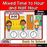 Back to School Mixed Time to the Hour/Half Hour Boom Cards