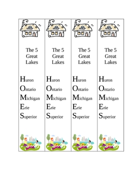 Back to School Mnemonic Bookmark Packet