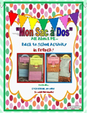 """Back to School- """"Mon Sac a Dos""""-Paperbag FUN Activities in"""