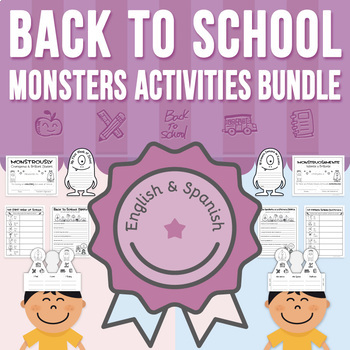 Back to School - Monsters Love School - Activities BUNDLE