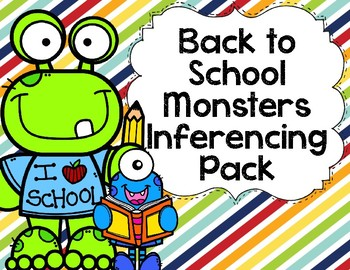Back to School Monsters Inferencing Pack