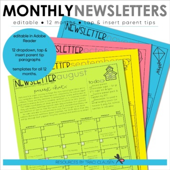 newsletter template editable monthly newsletter calendar with