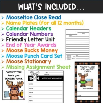 MOOSE Woodland Animals Classroom Bundle