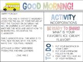 Back to School Morning Meetings- 4 weeks of meetings DONE for YOU!