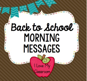 Back to School Morning Messages {Community Building Prompts}