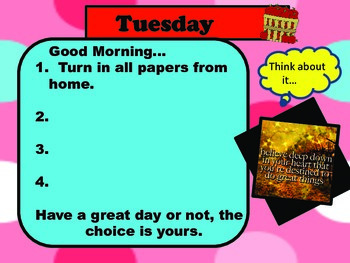 Back to School - Morning Routine Classroom Management