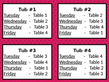Back to School Morning Tub Labels - Editable