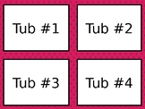 Morning Tub Labels - Editable