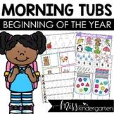 Back to School Morning Tubs for Kindergarten