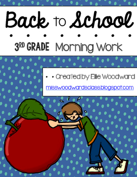 Back to School Morning Work- 3rd grade