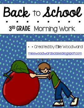 Back to School Morning Work- 3rd grade