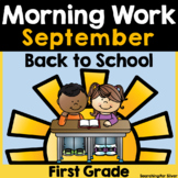 Back to School Morning Work {1st Grade}