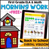Back to School Morning Work First Grade | Digital Google S