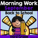 Back to School Morning Work {Third Grade}