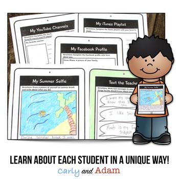 Back to School Morning Work and Classroom Procedure Book iPad Theme