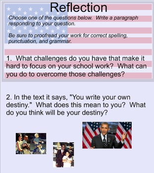 Back to School Motivational Close Reading:President Obama Speaks to Students