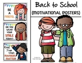 Back to School {Motivational Posters} Freebie for Classroom Decor