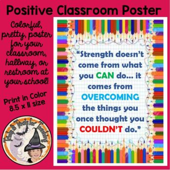 Back to School Motivational Quotation about STRENGTH Poster Strength