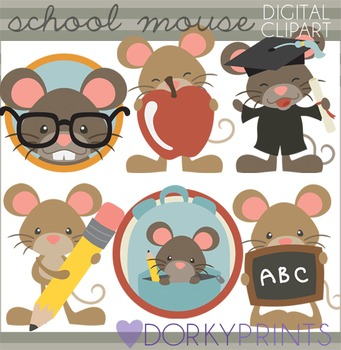 Back to School Mouse Clipart