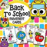 Back to School Movement Cards (Transition Activity or Brain Breaks)