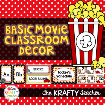 Classroom Decor, Movie Theme, Back to School, 2nd, 3rd, 4th