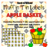 Back to School: Muffin Tin Labels : Apple Basket