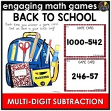 Back to School Multi-Digit Subtraction Game