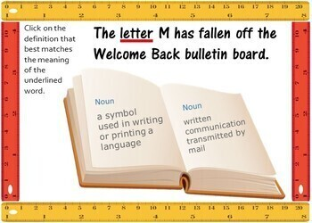 Back to School Multiple Meaning Words  - BOOM Cards! (24Cards )