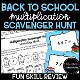 Back to School Multiplication Scavenger Hunt