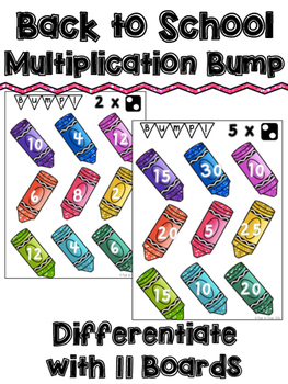 Multiplication Bump Game Boards