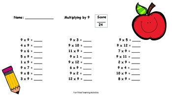 Back to School Multiplication Fact Practice